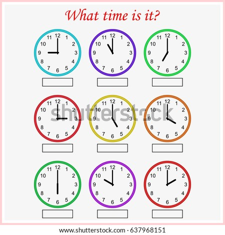 what time is it worksheet for preschool kids telling the time - Time Worksheet
