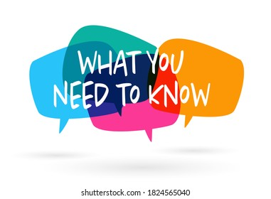 What you need to know on speech bulle