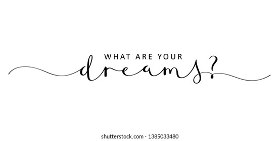 WHAT ARE YOUR DREAMS? brush calligraphy banner