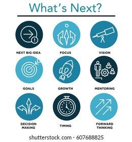 What's Next Icon Set