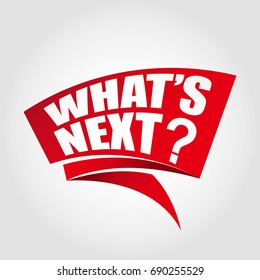 What's next label banner