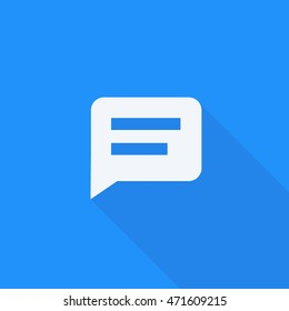 Whatsapp long shadow send message to anyone icon, Isolated chat vector