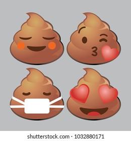 whatsapp poop emoji icon set