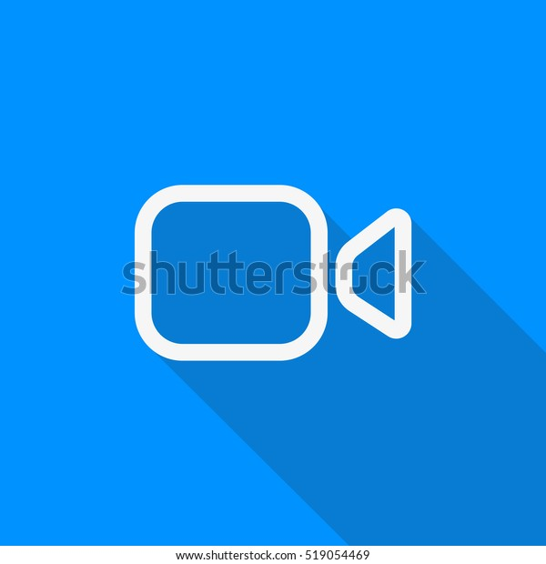 Whatsapp Video Call Long Shadow Vector Stock Vector (Royalty
