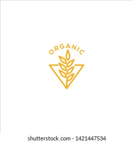 Wheat agriculture organic logo icon vector template