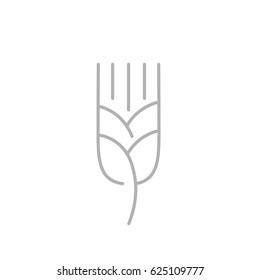 Wheat ear line icon, outline vector logo illustration