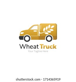 Wheat Food Delivery Truck Logo Design
