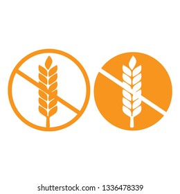 wheat gluten free grain vector icon. 100% Gluten Free sticker for food