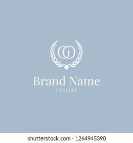 Wheat GO logo elegance skyblue