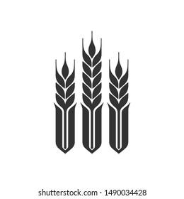 Wheat grain Vector Logo. Icon and Symbol. Eps 10.