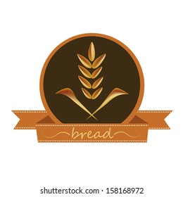 a wheat icon in a black circle with a ribbon and text