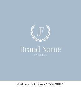 Wheat JF logo elegance skyblue