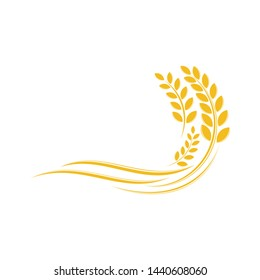 Wheat Logo Template. Agriculture Wheat icon Natural product. Icon of Premium Quality Farm Product. Can use for rice great quality design concept vector.