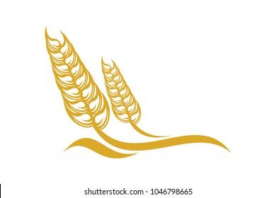 Wheat logo template. Organic concept. Nature icon symbol.
