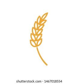 Wheat logo template vector bakery icon design