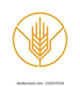 Wheat Logo Vector Template Agriculture Icon Design