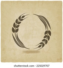 wheat old background- vector illustration. eps 10