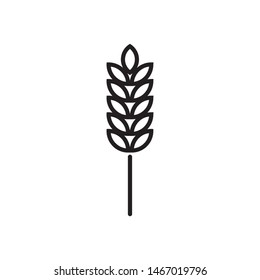 Wheat plant logo template vector bake icon design