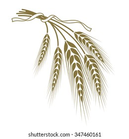 of wheat tied with a ribbon