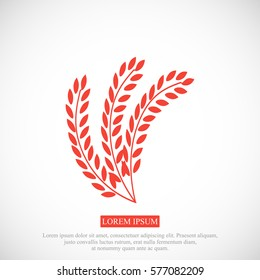 wheat vector icon, vector best flat icon, EPS