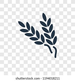 Wheat vector icon isolated on transparent background, Wheat transparency logo concept
