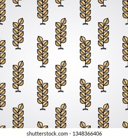 Wheat vector pattern background