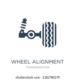 wheel alignment icon vector on white background, wheel alignment trendy filled icons from Transportation collection, wheel alignment vector illustration