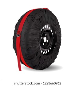 Wheel Bag. Wheel tote. Tire storage. Carrying bags. Wheel storage protection. Spare car tyre black cover. Wheel storage and carry bag cover. Automobile tyre accessories.