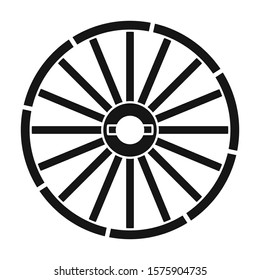 Wheel of cart vector icon.Black vector icon isolated on white background wheel of cart.