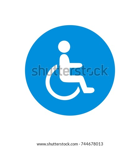 wheel chair signs template logo stock vector royalty free