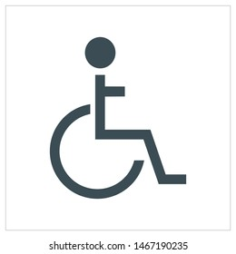 Wheel Chair simple icon vector ilustration