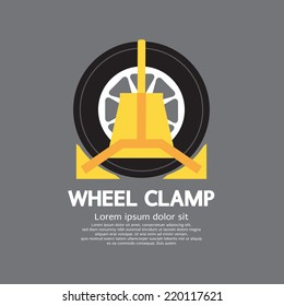 Wheel Clamp Side View Vector Illustration