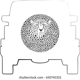 Wheel Cover - Cheetah