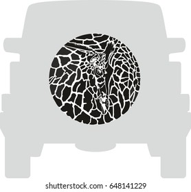Wheel Cover - Giraffe