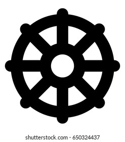 Wheel of Dharma Vector Icon