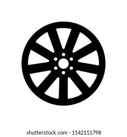 Wheel disks  icon, logo