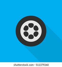 wheel flat icon illustration isolated vector sign symbol