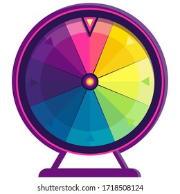 Wheel of fortune. Colorful object in cartoon style.