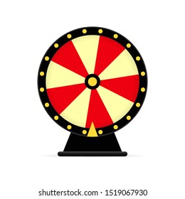 wheel of fortune icon on white background