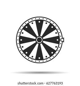 Wheel of fortune, icon. Vector illustration