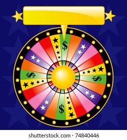 wheel of fortune illustration vector