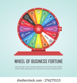 Wheel of fortune infographic design element, VECTOR, EPS10