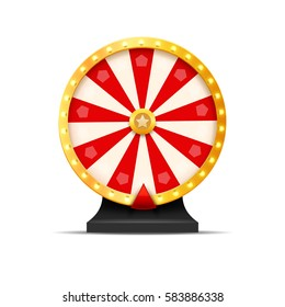 Wheel Of Fortune lottery luck illustration. Casino game of chance. Win fortune roulette. Gamble chance leisure