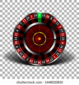 Wheel fortune  on isolated background, 3 d roulette, realistic vector illustration
