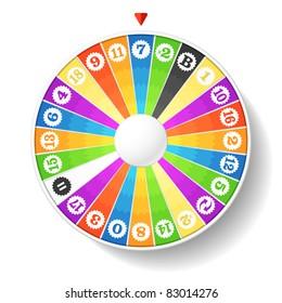 Wheel of fortune. Vector.