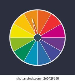 wheel of fortune vector illustration