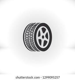 wheel icon. Vector  Eps 10