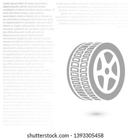 wheel icon. Vector  Eps 10 . Lorem Ipsum Design Flat