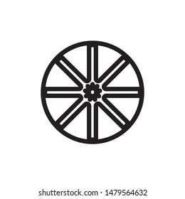 wheel line vector icon. isolated vector eps illustration icon