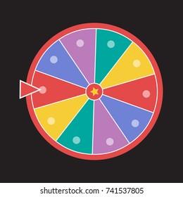 wheel luck fortune. Wheel of fortune vector illustration